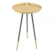 Metal Accent Table Copper-Benzara