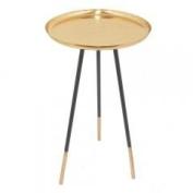 Metal Accent Table Copper-Benzara