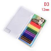 6 Colours Rainbow Coloured Eyelash Extension,Colour False eyelashes,Colourful Eyelash Extension by Team-Management