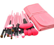 Afunti 24pcs Professional Synthetic Hair Cosmetic Makeup Brush Set Kit Brushes Tools Make up with Case