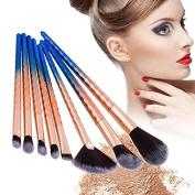 MSmask 8Pcs Makeup Brushes Set Foundation Eyebrow Eyeliner Eye-shadow Brush Cosmetic Conceler Brushes Kit Tool