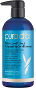 PURA D'OR Moisture Protect Cleansing Conditioner Treatment 2-in-1 Detangling Co-Wash Organic Argan Oil, 16 Fluid Ounce