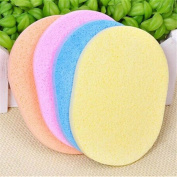 Wispun 3/5 Pcs Facial Cosmetic Puff Natural Seaweed Oval Shape Soft Face Washing Cleansing Sponge Candy Colour Makeup Beauty Clean Tools