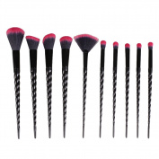 MSmask 10Pcs Makeup Brushes Set Foundation Eyebrow Eyeliner Eye-shadow Brush Cosmetic Conceler Brushes Kit Tool