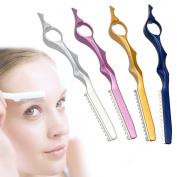 Neverland Beauty 4pcs set Thinning Razor for Hair Cut Diamond Edge Professional Styling Razor Tool - Multi-colours