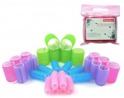 Kamay's 30PCS 5 Size Nylon Hair Rollers Curlers Hair Design Sticky Cling Style For DIY Or Hair Salon
