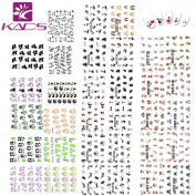 KADS Nail Art Sticker 33 Different Kinds of Stickers For Nails Water Transfer - 3 Pack 33 design