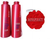 Joico Colour Endure Violet- Sulphate Free Shampoo and Conditioner DUO 1000ml FREE Shower Pouffe
