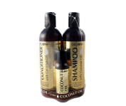Coconut Oil Shampoo and Conditioner Set (350ml each) + Coconut Oil Hair Treatment 60ml by Delon