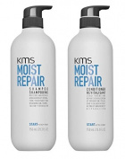 KMS Moist Repair Shampoo & Conditioner 750ml / 25.3 oz Large Professional Sizes DUO SET
