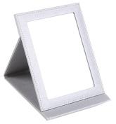 Yunko Beauty Upscale Portable Folding Travel Mirror with Standing Vanity Mirror Desktop Makeup Mirror Pocket Cosmetic Mirror Compact Mirror Large Grey