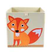 Storage Box LEADSTAR Foldable Canvas Cartoon Storage Cube Bin Box without Lid for Kids Toys Clothes