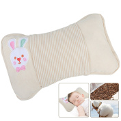 39cm x 22cm Breathable Soft Buckwheat Newborn Infant Toddler Pillow with Organic Cotton Protective Cover for Preventing Flat Head Syndrome, Correct Head Shape Baby Pillow