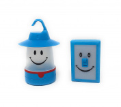 Set of Blue Smile LED Lantern and Switch LED Light Portable Battery Operated Easy to Use Designed for Kids by Time Concept