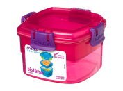 Sistema Lunch Collection Snacks To Go Food Storage Container, 400ml, Pink