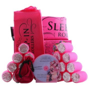 Sleep-In Rollers Gift Pack Includes 20 Rollers/ Drawstring Bag and Velour Pouch with Clips