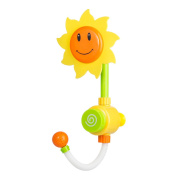 Tera Sunflower Baby Bath Water Shower Spray Bathing Tub Fountain Early Educational Toys for Kids Gifts