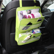 WJJ-Car Organiser,Seat Back Protector,Kick Mat, Multifunctional Car Boot Bag, 600D Oxford Fabric, Breathable Net Pockets
