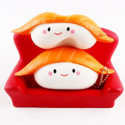 Samidy New Jumbo Cute Salmon Squishy Kawaii Super Slow Rising Creamy Scented Sushi of Decompression Simulation Kid Toys