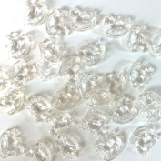 Rocking Horse Plastic Beads 100 pieces - Clear