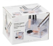 Clear Acrylic 10 Compartment Cosmetic Make Up Display Storage Table Organiser