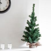90cm Luxury Christmas Tree Jute Sack Heavy Base Bag Table Top Xmas Tree Decor