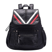 Vintage Leather Backpack Washed PU Casual Rucksack College Bags for Women Girls Ladies