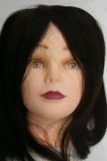 Hairdressing 100% 35-40cm. Human Hair Training Head Plus A Free Clamp
