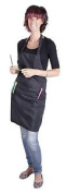 Professional Hairdresser's Black Apron - Salon Quality, Water-repellen