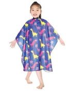 Wm Beauty Water Repellent Adjustable Cartoon Pattern Child Hair Cutting Cape, Bl