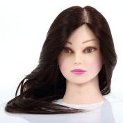 60cm 50% Human Hair Mannequin Salon Practise Model Training Head Hairdressin