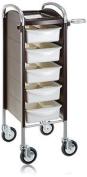 Efalock Piccolo 6002 Work Trolley - High/large Wheels - Mocha Pearl - 1 Item