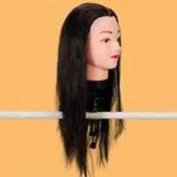 Th0 Hairdressers Training Head Dummy Long Hair With Clamps