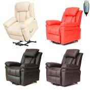 Faux Leather Massage Rise Recliner Mobility Tilt Lift Arm Chair Heat Mls-11