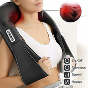 Lifebasis Shiatsu Neck & Back Massager With Heat Rechargeable Massage Pillow