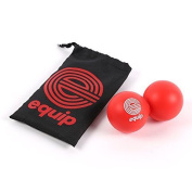 Massage Ball By Equip. Double Peanut Lacrosse Ball Ideal For Sports Self