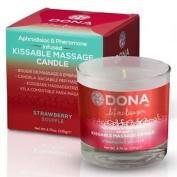 Dona Kissable Massage Candle - Strawberry Soufflé 135g