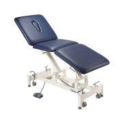 3 Section Electric Treatment Couch - Blue - Addax