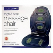 Invero Heated Thigh And Back Massage Chair For Home, Office, Car - 5 Programmes