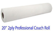 Professional 2ply White Hygiene Couch Paper Roll - 50cm X 40m