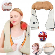 Electric Massager Shoulder Neck Back Pain Stress Relief Kneading Vibration Heat