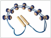 Back Massage Roller Rope Roller Massage Roller Band Back Made From Wood And