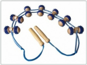 Back Massage Roller Rope Roller Massage Roller Band Back Made From Wood And