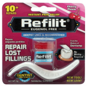 Dentemp Refilit Dental Cement Tooth Filling Cherry 2g-repairs Lost Fillings New