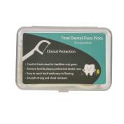 Tmei 100pc Dental Floss Picks Interdental Flosser Tooth Clean Oral Care