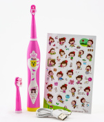 Ujs 8600 Rechargeable Sonic Musical Electric Toothbrush For Children Over 3 Pink