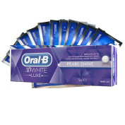 28 Teeth Whitening Strips + Oral B 3d White Pearl Shine/arctic Fresh Toothpaste