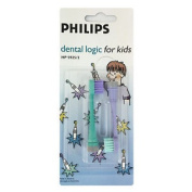 2 X Philips Hp5925/2 Dental Logic Toothbrush Heads For Kids