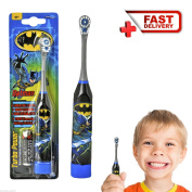 Batman Kids Electric Toothbrush Soft Battery Operated Boys Children Turbo Power