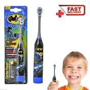 Batman Kids Electric Toothbrush Soft Battery Operated Boys Children Turbo Power